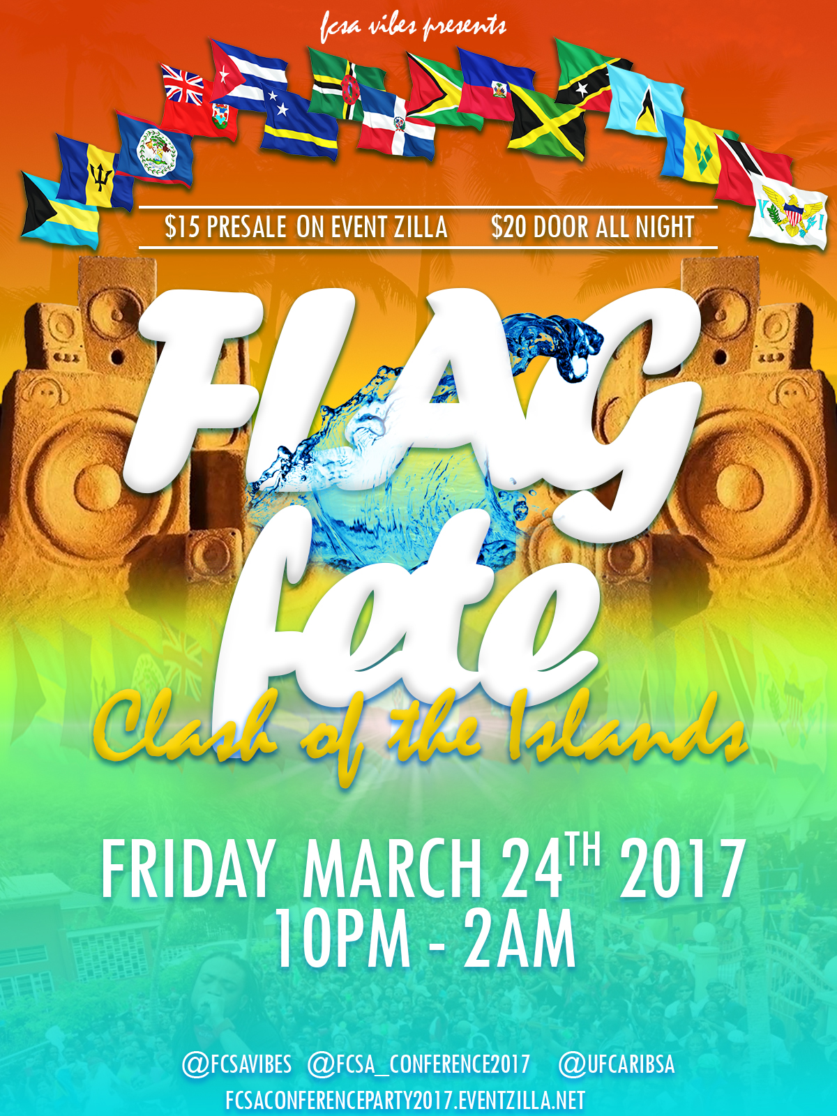 caribbean flags flyer